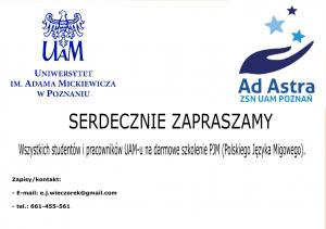 Darmowe szkolenie Polskiego Języka Migowego
